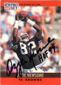OZZIE NEWSOME CLEVELAND BROWNS AUTOGRAPHED FOOTBALL CARD #50914O