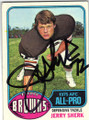 JERRY SHERK CLEVELAND BROWNS AUTOGRAPHED VINTAGE FOOTBALL CARD #51014A
