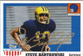 STEVE BARTKOWSKI UNIVERSITY OF CALIFORNIA BERKLEY AUTOGRAPHED FOOTBALL CARD #51014E