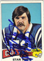 STAN WHITE BALTIMORE COLTS AUTOGRAPHED VINTAGE FOOTBALL CARD #51014F
