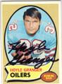 HOYLE GRANGER HOUSTON OILERS AUTOGRAPHED VINTAGE FOOTBALL CARD #51014H