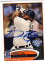PRINCE FIELDER DETROIT TIGERS AUTOGRAPHED BASEBALL CARD #51214L