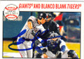 GREGOR BLANCO SAN FRANCISCO GIANTS AUTOGRAPHED BASEBALL CARD #51414G