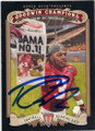 TRENT RICHARDSON UNIVERSITY OF ALABAMA CRIMSON TIDE AUTOGRAPHED ROOKIE FOOTBALL CARD #51914B