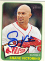 SHANE VICTORINO BOSTON RED SOX AUTOGRAPHED BASEBALL CARD #51914C