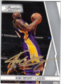 KOBE BRYANT LOS ANGELES LAKERS AUTOGRAPHED BASKETBALL CARD #51914F