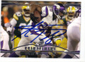 ADRIAN PETERSON MINNESOTA VIKINGS AUTOGRAPHED FOOTBALL CARD #52014G