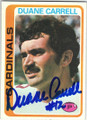 DUANE CARRELL ST LOUIS CARDINALS AUTOGRAPHED VINTAGE FOOTBALL CARD #52014i