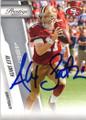 ALEX SMITH SAN FRANCISCO 49ers AUTOGRAPHED FOOTBALL CARD #52014M