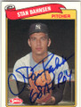 STAN BAHNSEN NEW YORK YANKEES AUTOGRAPHED BASEBALL CARD #52014N