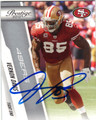 VERNON DAVIS SAN FRANCISCO 49ers AUTOGRAPHED FOOTBALL CARD #52114C