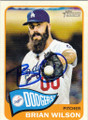 BRIAN WILSON LOS ANGELES DODGERS AUTOGRAPHED BASEBALL CARD #52114E