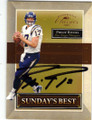 PHILIP RIVERS SAN DIEGO CHARGERS AUTOGRAPHED & NUMBERED FOOTBALL CARD #52414C