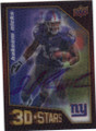 HAKEEM NICKS NEW YORK GIANTS AUTOGRAPHED ROOKIE 3-D FOOTBALL CARD #52414E