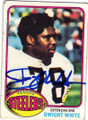 DWIGHT WHITE PITTSBURGH STEELERS AUTOGRAPHED VINTAGE FOOTBALL CARD #52414G