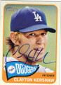 CLAYTON KERSHAW LOS ANGELES DODGERS AUTOGRAPHED BASEBALL CARD #52714F