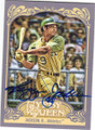 REGGIE JACKSON OAKLAND ATHLETICS AUTOGRAPHED BASEBALL CARD #52714J