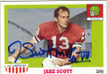 JAKE SCOTT UNIVERSITY OF GEORGIA AUTOGRAPHED FOOTBALL CARD #52714K