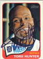 TORII HUNTER DETROIT TIGERS AUTOGRAPHED BASEBALL CARD #52814A