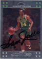 SAM JONES BOSTON CELTICS AUTOGRAPHED BASKETBALL CARD #52814D