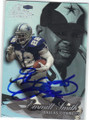 EMMITT SMITH DALLAS COWBOYS AUTOGRAPHED FOOTBALL CARD #53014B