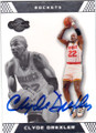 CLYDE DREXLER HOUSTON ROCKETS AUTOGRAPHED BASKETBALL CARD #53014D