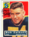 ROGER ZATKOFF GREEN BAY PACKERS AUTOGRAPHED FOOTBALL CARD #53014E
