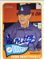 DON MATTINGLY LOS ANGELES DODGERS AUTOGRAPHED BASEBALL CARD #53014F