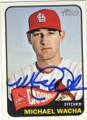 MICHAEL WACHA ST LOUIS CARDINALS AUTOGRAPHED BASEBALL CARD #53014i