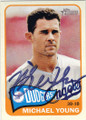 MICHAEL YOUNG LOS ANGELES DODGERS AUTOGRAPHED BASEBALL CARD #53014J