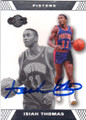 ISIAH THOMAS DETROIT PISTONS AUTOGRAPHED BASKETBALL CARD #60214D