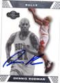 DENNIS RODMAN CHICAGO BULLS AUTOGRAPHED BASKETBALL CARD #60214M