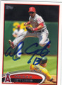 MAICER IZTURIS LOS ANGELES ANGELS OF ANAHEIM AUTOGRAPHED BASEBALL CARD #60414B