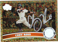 CODY ROSS SAN FRANCISCO GIANTS AUTOGRAPHED BASEBALL CARD #60414F