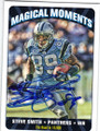 STEVE SMITH CAROLINA PANTHERS AUTOGRAPHED FOOTBALL CARD #60414H