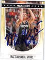 MATT BONNER SAN ANTONIO SPURS AUTOGRAPHED BASKETBALL CARD #60414L