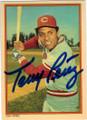 TONY PEREZ CINCINNATI REDS AUTOGRAPHED VINTAGE BASEBALL CARD #60614C
