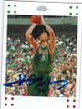 YI JIANLIAN MILWAUKEE BUCKS AUTOGRAPHED & NUMBERED ROOKIE BASKETBALL CARD #60614G