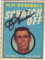 LOU PINIELLA AUTOGRAPHED VINTAGE SCRATCH OFF BASEBALL CARD #60614i