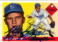 DON ZIMMER BROOKLYN DODGERS AUTOGRAPHED BASEBALL CARD #60714A