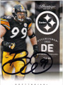BRETT KEISEL PITTSBURGH STEELERS AUTOGRAPHED FOOTBALL CARD #60714D