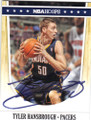TYLER HANSBROUGH INDIANA PACERS AUTOGRAPHED BASKETBALL CARD #60714F