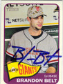 BRANDON BELT SAN FRANCISCO GIANTS AUTOGRAPHED BASEBALL CARD #60714i