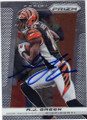 AJ GREEN CINCINNATI BENGALS AUTOGRAPHED FOOTBALL CARD #60714N