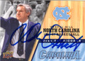 DEAN SMITH NORTH CAROLINA TAR HEELS AUTOGRAPHED BASKETBALL CARD #60714P