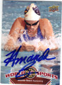 AMANDA BEARD AUTOGRAPHED OLYMPIC SWIMMING CARD #61014B