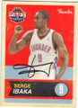 SERGE IBAKA OAKLAHOMA CITY THUNDER AUTOGRAPHED BASKETBALL CARD #61114B