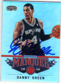DANNY GREEN SAN ANTONIO SPURS AUTOGRAPHED BASKETBALL CARD #61114C