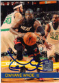 DWYANE WADE MIAMI HEAT AUTOGRAPHED BASKETBALL CARD #61114D