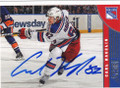 CARL HAGELIN NEW YORK RANGERS AUTOGRAPHED HOCKEY CARD #61114F